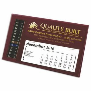 MMT LCD Therm-O-Date Thermometer Desk Calendar, Maroon