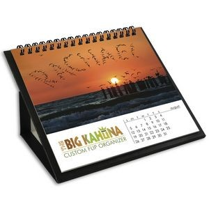 Big Kahuna Custom Flip Calendar w/Black Organizer Base
