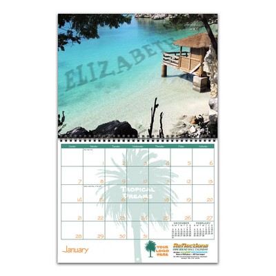 Reflections Wire-bound 12-Month/13-Photo Wall Calendar