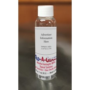 Ad-A-Guard™ Hand Sanitizer 2 oz Liquid w/ Screw Cap - FDA Registered