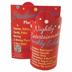 Promote.Restaurant™ Die-Cut Table Topper