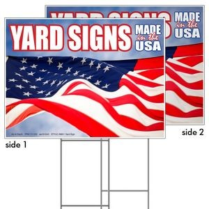 Coroplast Yard Sign, 2-sided