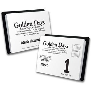 """Big Date"" Day-By-Day Calendar with Black Imprint"